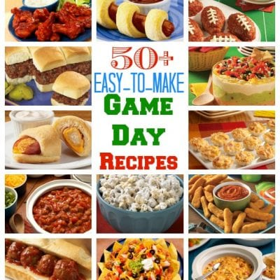 50+ Easy to Make Game Day Recipes & Hungry For Football Giveaway!