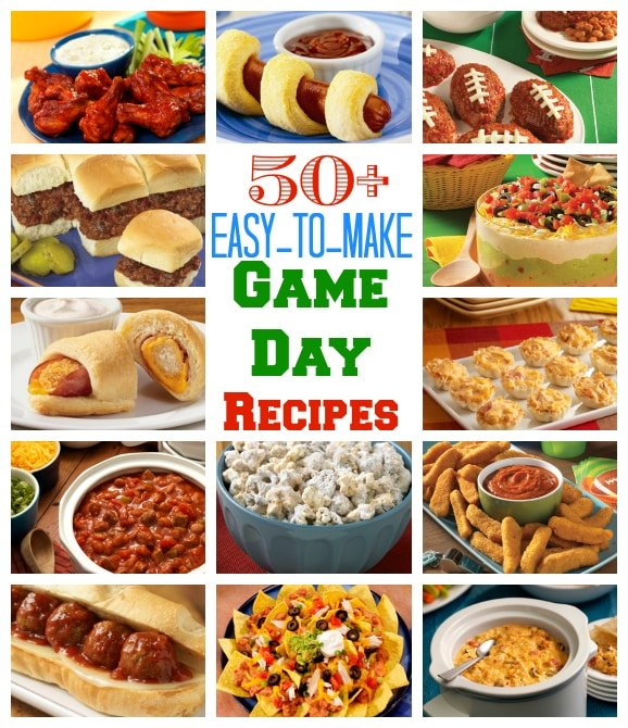 Over 50 Easy-to-Make Game Day Recipes