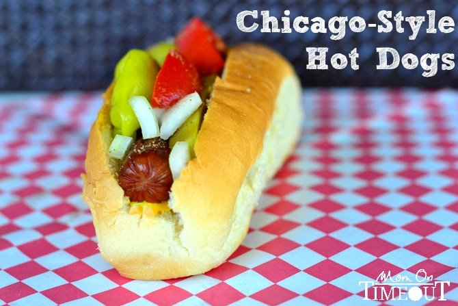 Chicago-Style Hot Dogs from MomOnTimeout.com