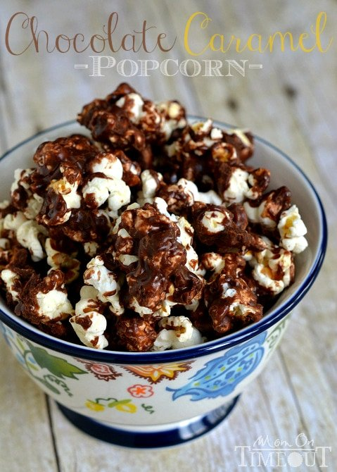 Chocolate Caramel Popcorn Mom On Timeout