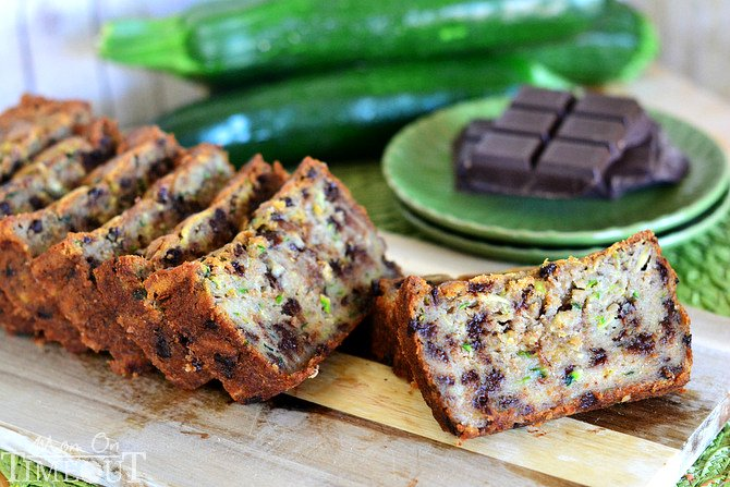 Chocolate Chip Zucchini Banana Bread | MomOnTimeout.com