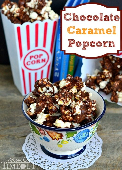 Chocolate Caramel Popcorn is the perfect snack for movies and makes a ...