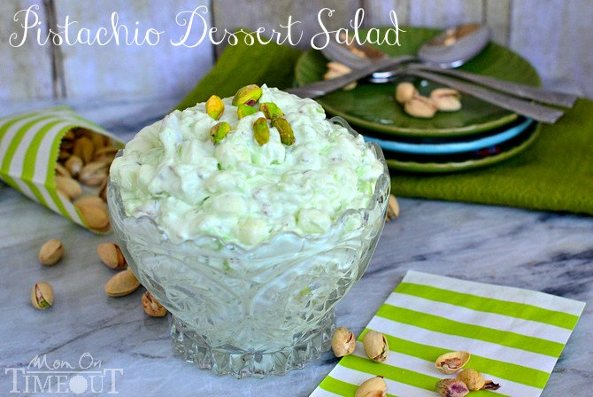 Pistachio Dessert Salad or Pistachio Fluff - whatever you choose to call it - it's delicious! | MomOnTimeout.com