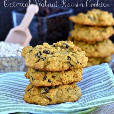 Pumpkin Pie Oatmeal Walnut Raisin Cookies