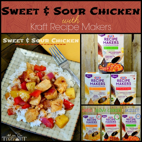 Sweet and Sour Chicken with Kraft Recipe Makers | MomOnTimeout.com