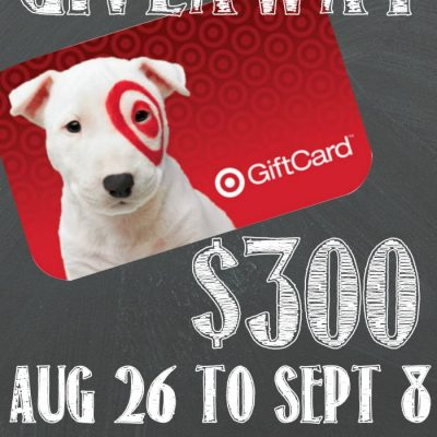 $300 Target Gift Card Back to School Giveaway