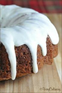 Easy Apple Cake with Cream Cheese Vanilla Icing