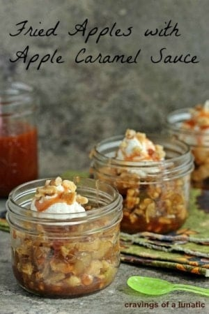Fried Apples With Caramel Sauce