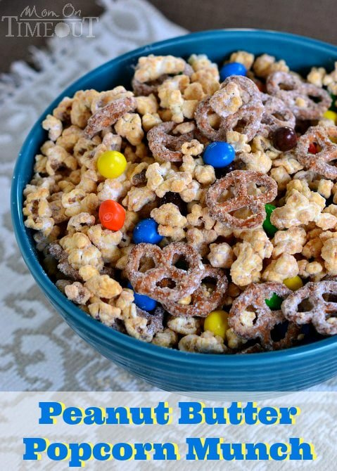 Peanut Butter Popcorn Munch | MomOnTimeout.com