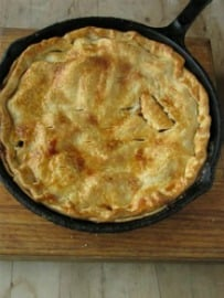 Skillet Apple Pie with Homemade Cinnamon Ice Cream