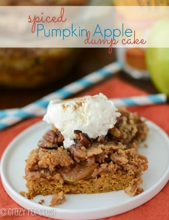 Spiced Pumpkin Apple Dump Cake