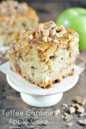 Toffee Caramel Apple Cake