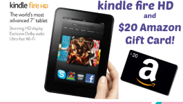 Kindle Fire HD and $20 Amazon Gift Card Giveaway!