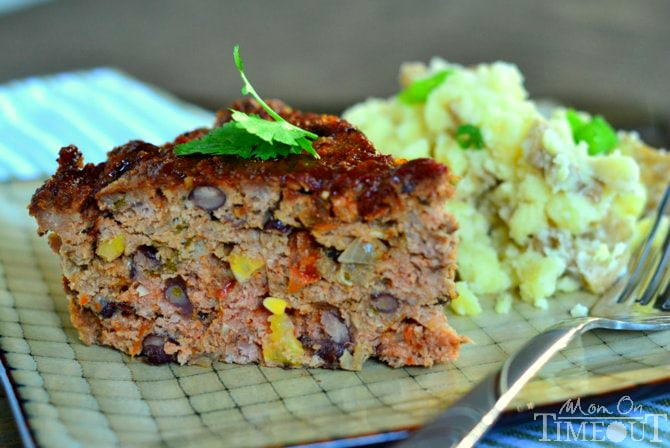 Slow Cooker Sante Fe Meatloaf from MomOnTimeout.com #slowcooker #recipe