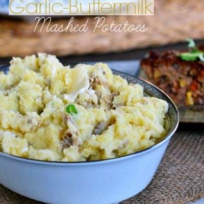 Slow Cooker Garlic Buttermilk Mashed Potatoes
