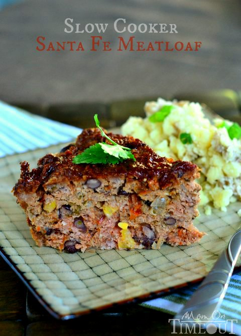 This Slow Cooker Sante Fe Meatloaf recipe is a fantastic way to get a delicious meal on the table without all the stress! | MomOnTimeout.com | #slowcooker #recipe #dinner