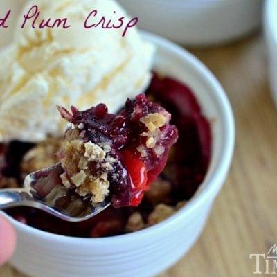Spiced Plum Crisp