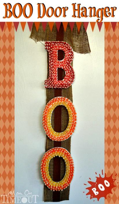 BOO Halloween Door Hanger | MomOnTimeout.com #StarburstCandyCorn