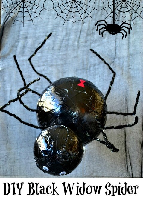DIY Black Widow Spider Craft from MomOnTimeout.com #EEKologist #craft #sponsored