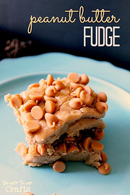 Peanut Butter Fudge Recipe #gingersnapcrafts #recipe #fudge