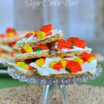 Candy Corn Sugar Cookie Bark
