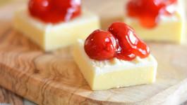 White Chocolate Cherry Fudge