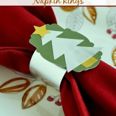 Christmas Tree Napkin Rings + Exciting Silhouette Promotion!