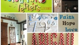 #colourful letters #giveaway #wood letters #design