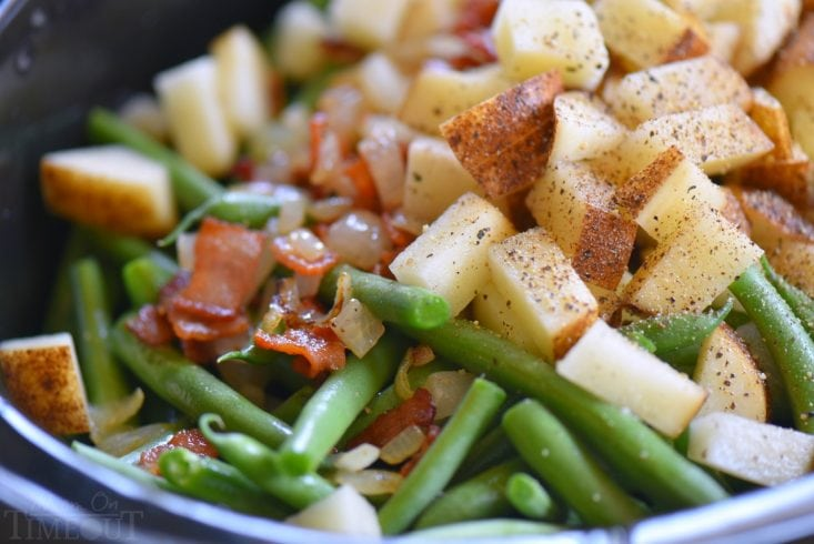 green beans bacon and potatoes