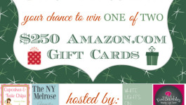 $250 Amazon Gift Card Giveaway – TWO WINNERS!!