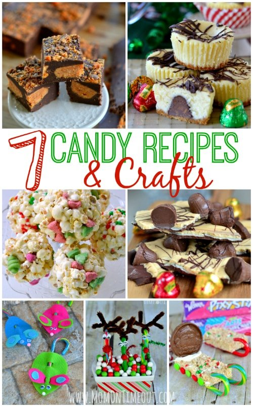 7 Candy Recipes and Crafts for Christmas to help you and your family celebrate the holiday season! | MomOnTimeout.com