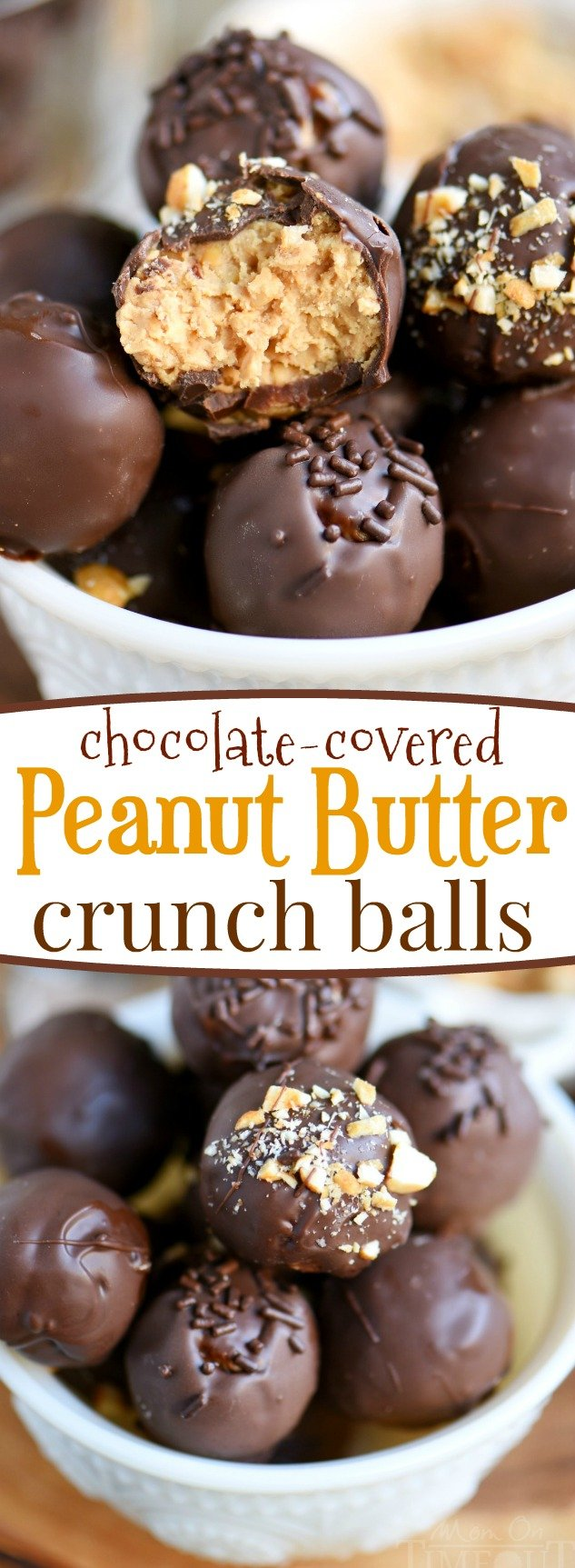 butter cravings with these easy Chocolate Covered Peanut Butter Crunch ...