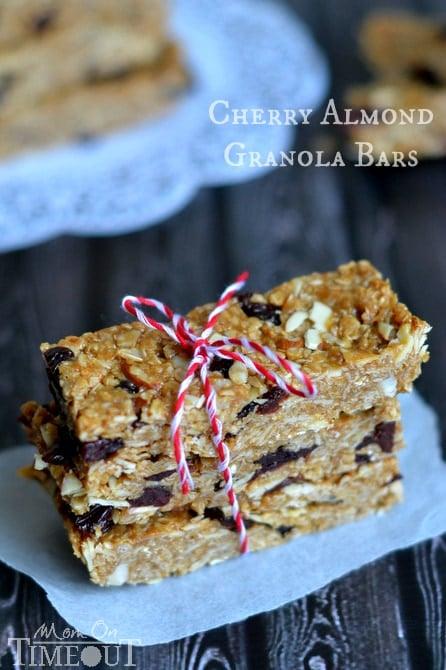 cherry almond granola bars recipe