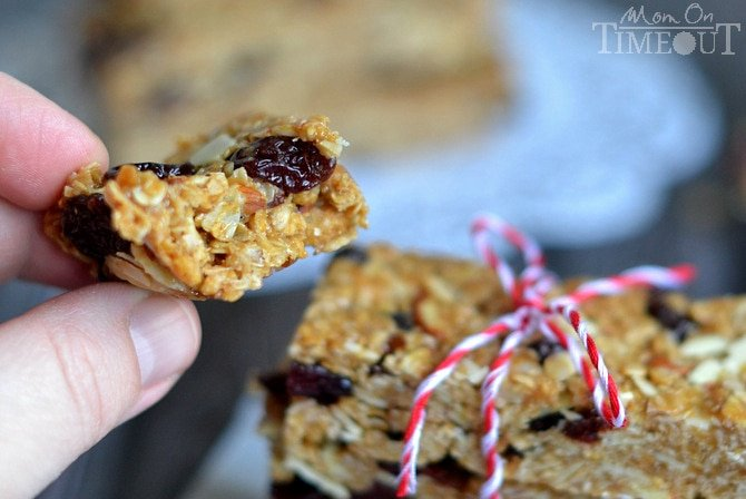 granola bars tied up with string