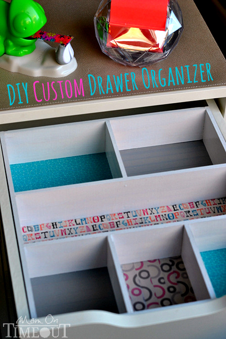 Add A Pop Of Color And Organization To Those Messy Drawers With This Diy Drawer Organizer