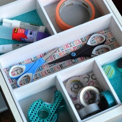 DIY Drawer Organizer #ScotchEXP