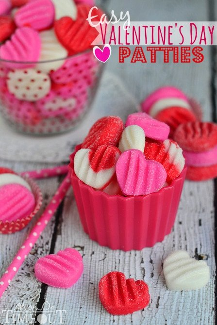 Celebrate the sweetness of Valentine's Day with these Easy Valentine's Day Patties - you choose the flavor! | MomOnTimeout.com