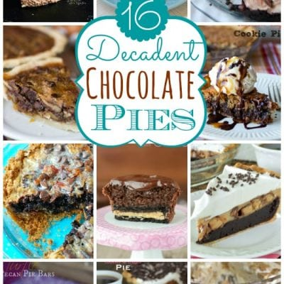 16 Decadent Chocolate Pies!