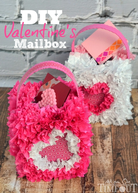 Collect and hand out Valentine's Day cards in style with this DIY Valentine's Mailbox! | MomOnTimeout.com #ScotchEXP #sponsored