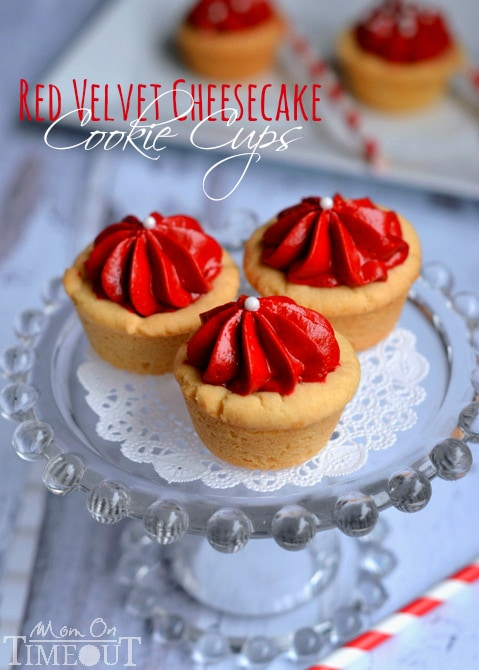 Red Velvet Cheesecake Cookie Cups