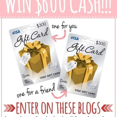 Share the Love $600 VISA Gift Card Giveaway!