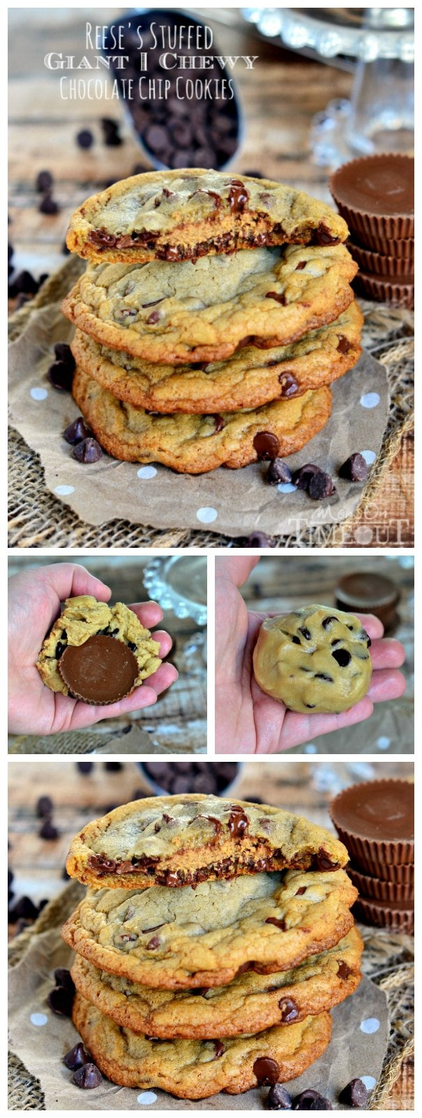 Reese's Stuffed Giant Chewy Chocolate Chip Cookies