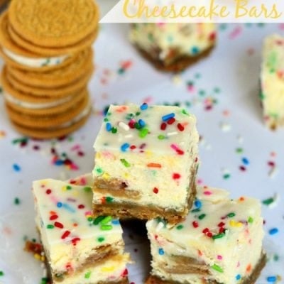 Funfetti Oreo Cheesecake Bars