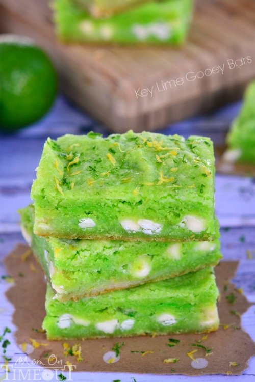 These Key Lime Gooey Bars are sure to become your new favorite! | MomOnTimeout.com