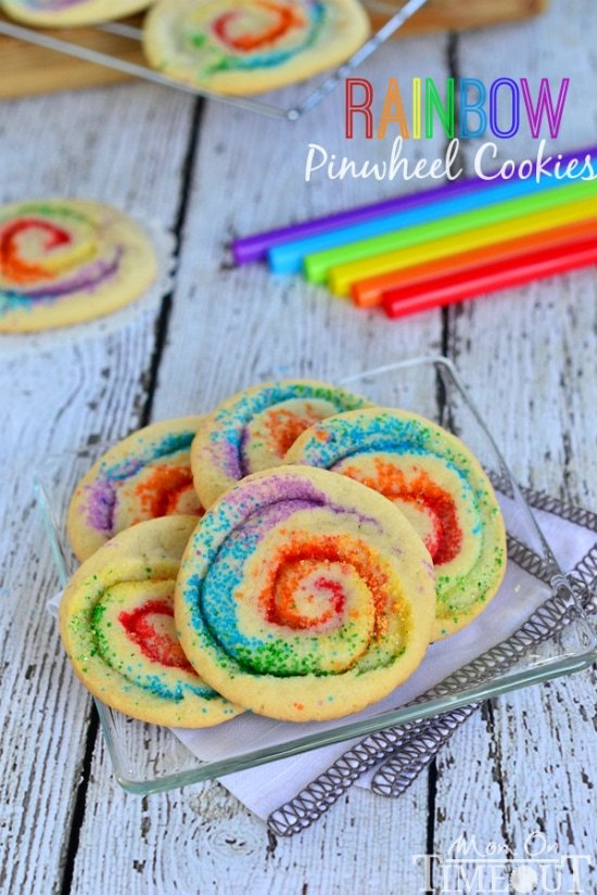 These gorgeous Rainbow Pinwheel Cookies are super easy to make and are ...