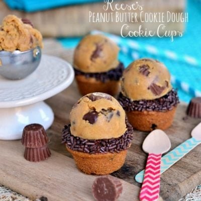 Reese's Peanut Butter Cookie Dough Cookie Cups