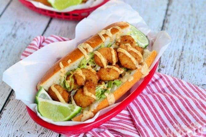 Easy Shrimp Po' Boy Sandwich + Giveaway! - Mom On Timeout