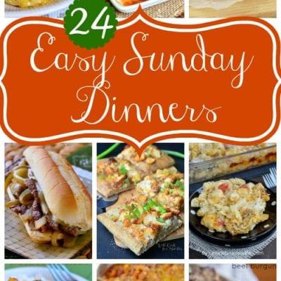 24 Easy Sunday Dinners