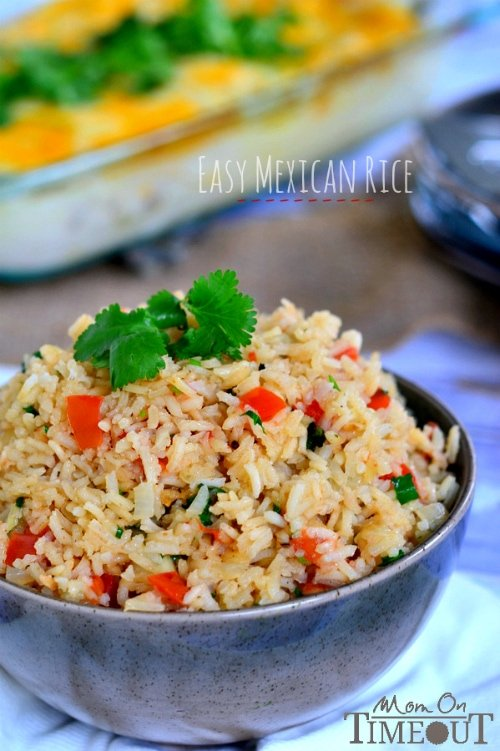 This Easy Mexican Rice is the perfect addition to your favorite Mexican meal! | MomOnTimeout.com