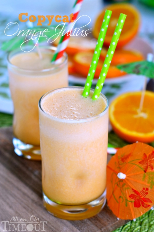 This delicious recipe for a Copycat Orange Julius is sure to become your new favorite drink! | MomOnTimeout.com